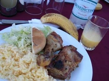 20090819 4RanoRaraku Lunch pisco.JPG