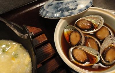 20110716 8流れ子煮&青さ雑炊.JPG