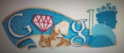 20120602 Queen's Diamond Jubilee Doodle.JPG